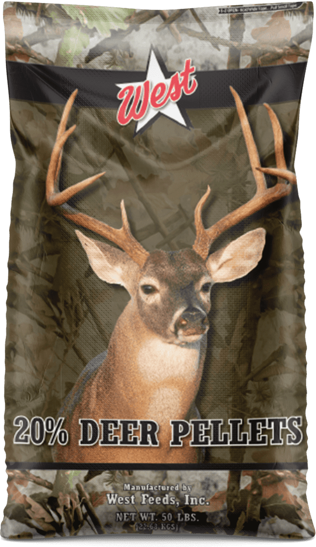 deer protein pellets feed bag