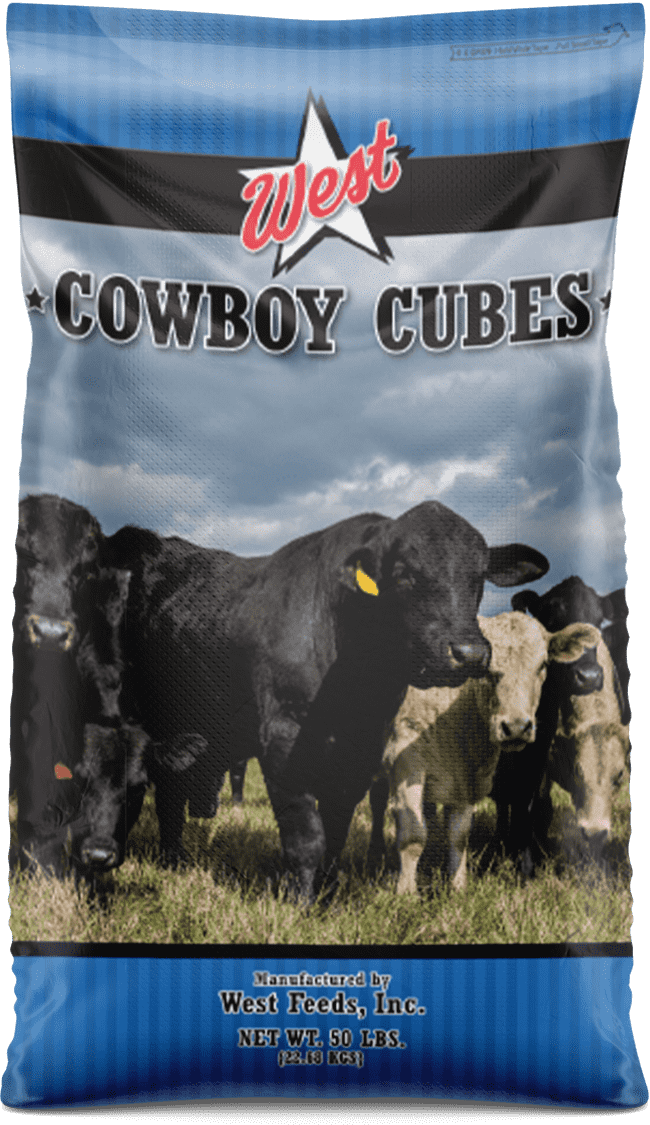 cowboy cubes cattle feed bag